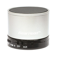 Gear Head Portable Wireless Bluetooth Speaker - Silver