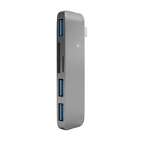 Satechi Type-C USB 3.1 3 in 1 Combo Hub and Card Reader - Gunmetal