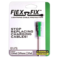 Flex-Fix Lightning Cable Protector - Green