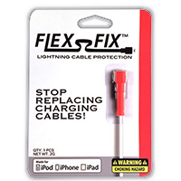 Flex-Fix Lightning Cable Protector - Red