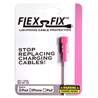 Flex-Fix Lightning Cable Protector - Pink