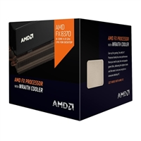 AMD FX 8370 Vishera 4GHz Eight Core Socket AM3+ Boxed Processor with Wraith Cooler