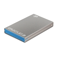 "Patriot Gauntlet 3 2.5"" SATA III to USB 3.0 External Hard Drive Enclosure - Silver"