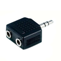 Philips 3.5mm Male to (2) 3.5mm Female Audio Adapter