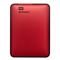 WD My Passport 1TB USB 3.0 External Hard Drive Factory Re-certified Red