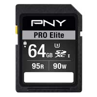 PNY 64GB Pro Elite Performance SDXC Class 10 / UHS-3 Flash Memory Card