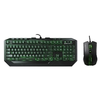 Cooler Master Devastator II Green LED Edition Gaming Keyboard and Mouse Combo - Mem-chanical Switch