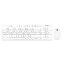 MacAlly Full-Size USB Keyboard with 3 Button USB Optical Mouse Combo for Mac