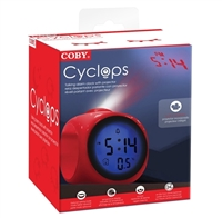 Coby Electronics CBC-54-RED Cyclops Talking Clock with LED projected time