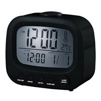 "Coby Electronics Alarm Clock 3.5"" Black"