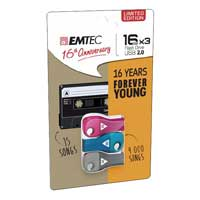 Emtec International 16GB USB 2.0 Flash Drive 3-pack