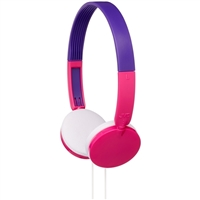 JVC Tinyphones On-Ear Headphones for Kids - Pink/Purple