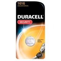 Duracell 3V Coin Cell Lithium Battery CR1616