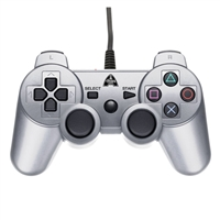 Arsenal Gaming PS/3 Wired Controller Silver
