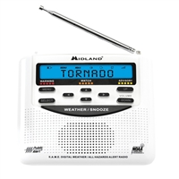 Midland WR120 Weather Alert Radio with Alarm Clock