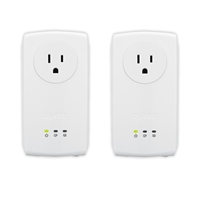 Zyxel AV1000 2-Port Powerline Pass-Thru Homeplug AV2 Kit