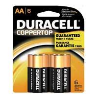 Duracell AA Alkaline Battery 6-Pack