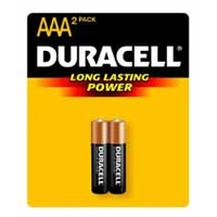 Duracell AAA Alkaline Battery 2 Pack