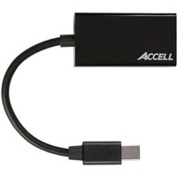 Accell Mini DisplayPort 1.2 Male to HDMI 2.0 Female Active Adapter 6 in. - Black