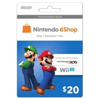 InComm Nintendo eShop Mario & Luigi Gift Card $20