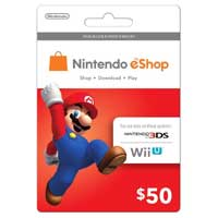 InComm Nintendo eShop Mario Gift Card $50