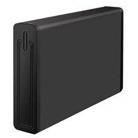 "Kingwin 3.5"" SATA to USB 3.0 Aluminum External Hard Drive Enclosure - Black"