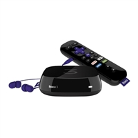 Roku Roku 3 (4230R) Streaming Media Player With Voice Search (2015 model) Certified Refurbished