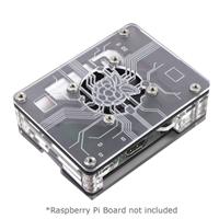 C4Labs Zebra Virtue Enclosure for Raspberry Pi 3 Model B - Black Mist