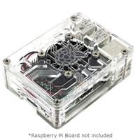 C4Labs Zebra Virtue Enclosure for Raspberry Pi 3 Model B - Crystal
