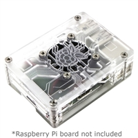 C4Labs Zebra Virtue for Raspberry Pi 3/2/B+ - crystal Mist