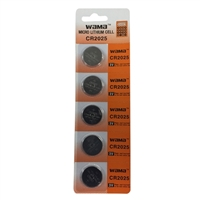 Dantona Industries 3V Lithium Battery CR2025 5-pack