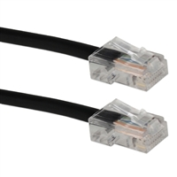 QVS 200 ft. 350MHz CAT5e Flexible Patch Cord - Black