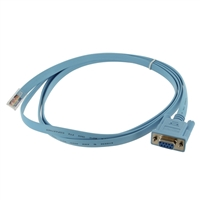 StarTech RJ-45 Male to DB-9 Female Cisco Console Management Router Cable 6 ft. - Blue