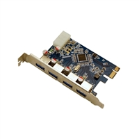 Visiontek 4 Port USB 3.0 PCIe Internal Card