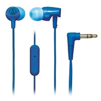 Audio Technica SonicFuel Earbuds w/ Mic - Blue