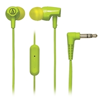 Audio Technica SonicFuel Earbuds w/ Mic - Lime Green