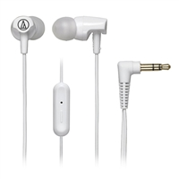 Audio Technica SonicFuel Earbuds w/ Mic - White