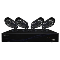 Night Owl 8 Channel Digital Video Recorder (DVR) and 4 Cameras