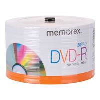 Memorex DVD-R 16x 4.7GB/120 Minute Disc 50 Pack Eco Spindle