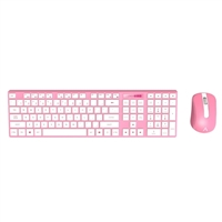 Azio HUE 2 Wireless Keyboard & Mouse Combo - Pink