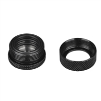 Thermaltake Pacific DIY LCS PETG Black 16mm 5/8 OD Compression Fitting