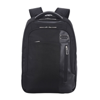 "Eco Style Tech Exec Checkpoint Friendly Backpack Fits up to 15.6"" - Black"