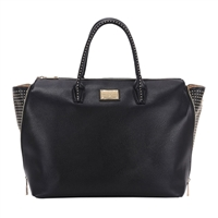 "Sandy Lisa Milan Wing Tote Fits up to 15.6"" - Black"