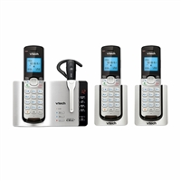VTech DS6672-4 Dect 6.0 3-Handset Connect to Cell Phone System