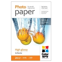 "Colorway 4"" x 6"" High Glossy Photo Paper 20-Sheets"