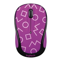 Logitech M325c Wireless Optical Mouse - Geo Purple