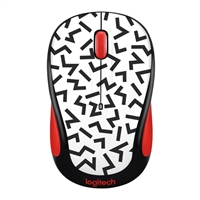 Logitech M325c Wireless Optical Mouse - ZigZag Red