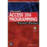 Stylus Publishing MS Access 2016 Programming Pocket Primer