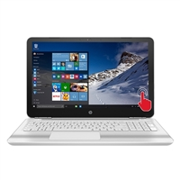 """HPS Simulations Pavilion 15-au091nr 15.6"""" Laptop Computer - Blizzard White and Ash Silver with Horizontal Brushing"""