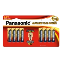 Panasonic Energy of America Alkaline Plus Power AA Batteries 16-Pack